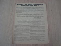 DOCUMENT MESSIEURS LES CHEFS COMMUNISTES, QU'ATTENDEZ-VOUS DONC ? - Historische Dokumente