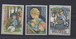 BELGIQUE N° 2151/2153  * (charnières) - ENFANT SUR UN MANEGE (cheval Mappemonde Et Fleurs) - Childhood & Youth