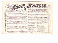 """JEAN DARIS, Chanson / Partition """"Amour Et Jeunesse"""", Musique Gauwin DARIS, Angelot, Ed. L. Gorde 1910 Environ - Other"""