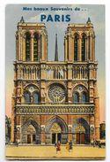 Cpa: 75 Mes Beaux Souvenirs De PARIS - Carte Système (10 Minivues) - Notre Dame. - Autres
