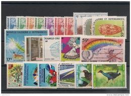 NOUVELLE CALÉDONIE Année 1985 Complète N°Y/T :491/511** Côte : 38,00 € - Nueva Caledonia
