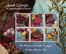 South Georgia 2012 - Faune Sous Marine - Feuillet  Neufs // Mnh - Géorgie Du Sud