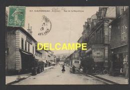 DF / 12 AVEYRON / CAPDENAC / RUE DE LA REPUBLIQUE ET GRAND CAFÉ DE L'UNION / ANIMÉE / CIRCULÉE EN 1919 - France