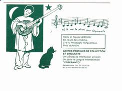 Prête-moi Ta Plume Pour L'esperanto, Pierrot, Mandoline, Chat, Chanson / Partition, LEBRUN 27510 PRESSAGNY L'ORGUEILLEUX - Esperanto
