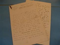 LONGUE ET BELLE LETTRE AUTOGRAPHE SIGNEE DE JOSEPH CHABANEIX 1892 MEDECIN COLONIAL PROFESSEUR SEGALEN BORDEAUX SCHOLL - Autographes