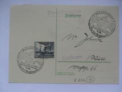 GERMANY - 1938 Postkarte - Mit Sonderstempel - Mannheim Tag Der Briefmarke - Tied With Elbei - Briefe U. Dokumente
