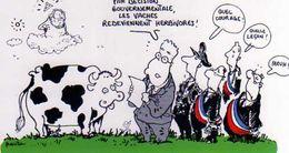 PLANTU  Lionel Jospin Propose Son Plan De Bataille Contre L Vache Folle 15 Novembre 2000 - Plantu