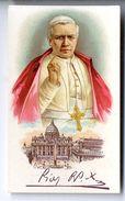 PIE X  -  CHROMO PUBLICITAIRE NICOLA CALABRESI  MARCHAND - Images Religieuses