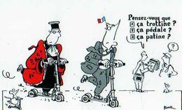 PLANTU  Le Jugement Des Francais Sur Le Financement Du RPR 5 Octobre 2000, Patinettes - Plantu