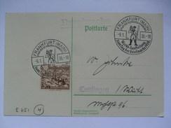 GERMANY - 1938 Postkarte - Mit Sonderstempel - Frankfurt Tag Der Briefmarke - Allemagne