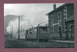 "MARIGNAC  CIERP  (31) : "" LIGNE DE MARIGNAC AU VAL D'ARAN ""  Carte Photo 1952 - France"