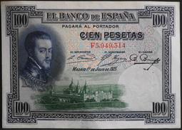 ESPAGNE 1 BILLET De BANQUE De 100 Pesetas - Année 1925 - F5,949,314 - Très Bon état - [ 1] …-1931 : First Banknotes (Banco De España)