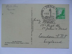 GERMANY - 1936 Postkarte - Mit Sonderstempel - Jena Thuposta - Allemagne
