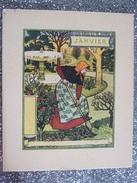 """SUPERBE SERIE """"LES MOIS DE L 'ANNEE"""" / BELLE FEMME AU JARDIN / 12 CHROMOS - Trade Cards"""