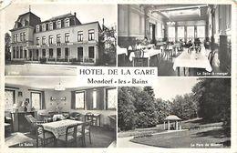 -ref V292- Luxembourg - Luxemburg - Mondorf Les Bains - Hotel De La Gare / Petit  Pli Coin Haut Gauche - - Mondorf-les-Bains