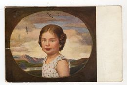 Bambini Bambino Bambina Girl Viaggiata 1912 - Disegni Infantili