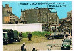 D-7819   BERLIN : Besuch Von Präsident CARTER Am Potzdamer Platz - Berlin Wall