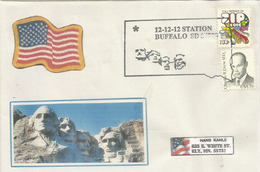 USA.MT RUSHMORE: 12.12.12. Enveloppe Souvenir Du Dernier Triple Digit Du Siecle 12 Decembre 2012 (Buffalo Dakota Du Sud) - George Washington