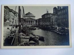 TRIESTE Vecchia Cartolina Canale Ponterosso Barche 22557 - Trieste