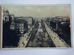 TRIESTE Vecchia Cartolina Canale Ponterosso VELIERI Barche Dall'alto - Trieste