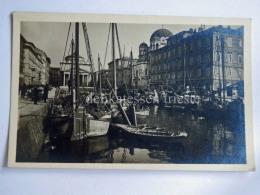 TRIESTE Vecchia Cartolina Canal Grande Ponterosso Barca Vela 22643 - Trieste