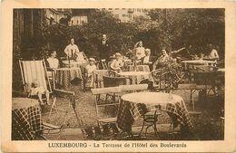 -ref V288- Luxembourg - Luxemburg -la Terrasse De L Hotel Des Boulevards  - Carte Bon Etat  - - Luxemburg - Town
