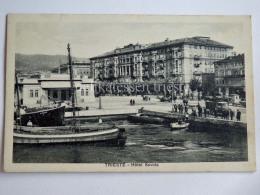 TRIESTE Vecchia Cartolina Hotel Savoia Riva Animata Barca 664 - Trieste