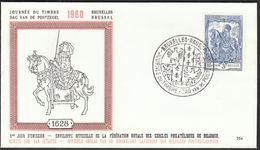 Belgium Bruxelles Brussel 1960 / Stamp's Day / Alexandrine De Rye / FDC - Stamp's Day