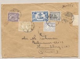 Nederlands Indië - 1932 - 15 Cent Witte Kruis Met 4 Cijferzegels Op Cover Van Pekalongan Naar Hainsberg / Germany - Niederländisch-Indien