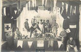 -ref V276- Carte Photo -macedoine-guerre 1914-18- Prilep - Theatre -santé - Hopital Militaire Lazareth 210- Noel 1918 - - Macedonia