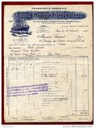 Transport Maritime Despradelle - Facture Colis Postal Pour L'Afrique Du Sud - 1923 - Trasporti