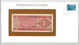 Billet Neuf  , Enveloppe Timbrée Oblitérée ,Nederlandse Antillen, 1 , Een Gulden , 1970, Frais Fr : 1.95 Euro - Nederlandse Antillen (...-1986)