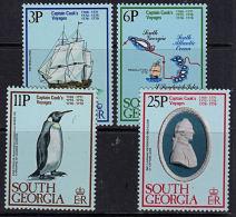 B0743 SOUTH GEORGIA 1979 SG 70-73 Bicentenary Captain Cook Voyages,  MNH - Géorgie Du Sud
