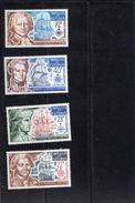 Wallis Et Futuna:année 1973 (Grands Navigateurs) Série De 4 Valeurs  PA N°44** à N°47** - Ungebraucht