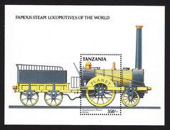 Tanzania, Scott #486, Mint Never Hinged, Steam Locomotive, Issued 1989 - Tanzanie (1964-...)