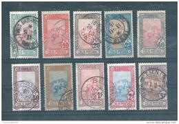 Colonie Timbres Colis Postaux De Tunisie  De 1906  N°1 A 10 Complet    Oblitérés - Andere