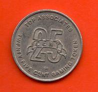 FICHAS - MEDALLAS //    Token - CASINO - 25 CENTS DISCOVERY CRUISES - Casino
