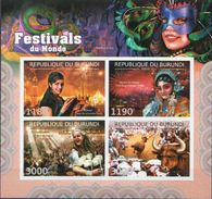 Burundi MNH Festivals Imperforated Sheetlet And SS - Carnival