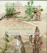 Burundi MNH Cactusses Imperforated Sheetlet And SS - Cactusses