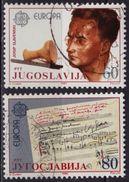 1985 - Yugoslavia - Europa CEPT - Drum Flute - Music Note - Josip Slavenski Composer - Canceled - Europa-CEPT