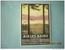 CLOUET  101078  AIX LES BAINS  CHEMIN DE FER DU MONT REVARD Route Des Alpes - Werbepostkarten