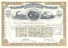 "Shares  ""US - The Delaware, Lackawanna & Western Railroad Company""         1952 - Documents Historiques"