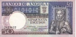 ¡¡CAPICUA!! BILLETE DE ANGOLA DE 50 ESCUDOS DEL AÑO 1973 Nº 23632 (BANKNOTE) SIN CIRCULAR-UNCIRCULATED - Angola