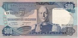 BILLETE DE ANGOLA DE 500 ESCUDOS DEL AÑO 1972 EN CALIDAD MBC (VF)(BANKNOTE) - Angola
