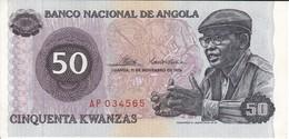 BILLETE DE ANGOLA DE 50 KWANZAS DEL AÑO 1976 (BANKNOTE) SIN CIRCULAR-UNCIRCULATED - Angola