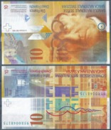"Banknote  10 CHF  ""Le Corbusier""         1995 - Suiza"