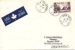 Canada Cover Sent To Denmark New Denmark 19-6-1972 Single Franked - 1952-.... Reign Of Elizabeth II