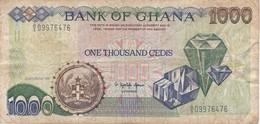 BILLETE DE GHANA DE 1000 CEDIS DEL AÑO 1991 (BANKNOTE-BANK NOTE) - Ghana