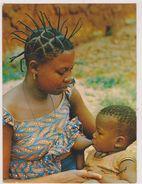 Afrique,africa,COTE D'IVOIRE,ex COLONIE FRANCAISE,FEMME DONNANT LE SEIN,EDITION D'ART NORMAND A ABIDJAN - Côte-d'Ivoire