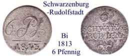 DL-1813, 6 Pfennig,  Schwarzenburg-Rudolstadt - Piccole Monete & Altre Suddivisioni